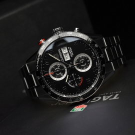 TA21052S Tag Heuer Carrera Chronograph Day Date Close10