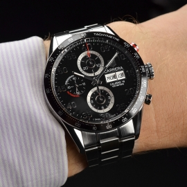 TA21052S Tag Heuer Carrera Chronograph Day Date Wrist 1