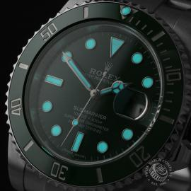 RO21730S Rolex Submariner Date Green Bezel Close1