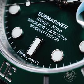 RO21730S Rolex Submariner Date Green Bezel Close4 1