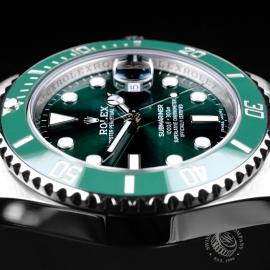 RO21730S Rolex Submariner Date Green Bezel Close6