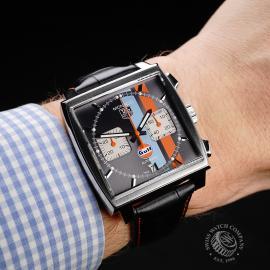 TA21997S Tag Heuer Monaco Calibre 12 'Gulf Edition'  Wrist