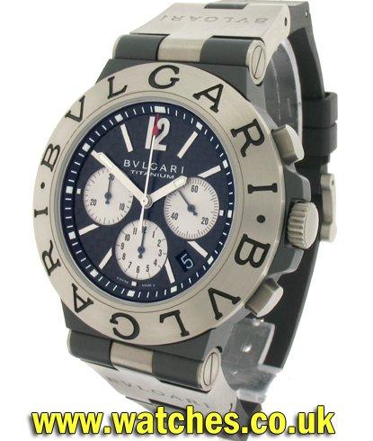 b70b3642cfc Bulgari Diagono Titanium Watch - TI 44 TA CH - Ref  - Bulgari ...