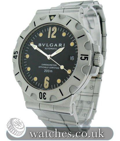 ffee19c0c38 Bulgari Diagono Scuba Watch - SD38S - Ref  BU-12102S - Bvlgari ...