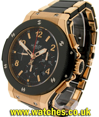 hublot big bang 18ct rose gold watch 301 ref. Black Bedroom Furniture Sets. Home Design Ideas