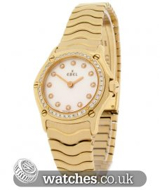 Ebel Ladies Classic Wave 18ct Gold