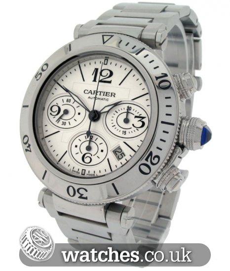 Cartier Pasha Seatimer Chronograph Watch - W31089M7 - Ref  CA-17240S ... 4ff1cb7e92