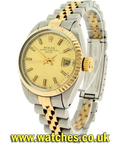 Rolex Vintage Ladies Oyster Perpetual Date Watch 6917 Ref