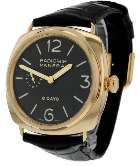panerai radiomir 8 days 18ct gold pam197