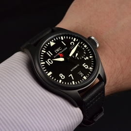 18886S IWC Big Pilots Top Gun Wrist