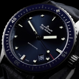 BL21450S Blancpain Fifty Fathoms Bathyscaphe Close2 1