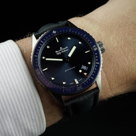 BL21450S Blancpain Fifty Fathoms Bathyscaphe Wrist