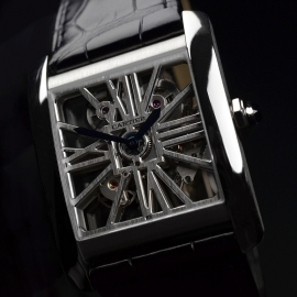 CA1812P Cartier Tank MC Skeleton Palladium Close1