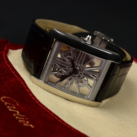 CA1812P Cartier Tank MC Skeleton Palladium Close4