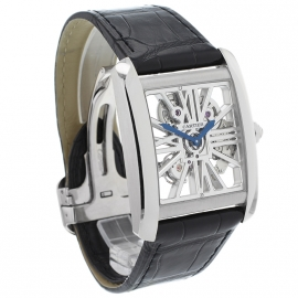 CA1812P Cartier Tank MC Skeleton Palladium Dial