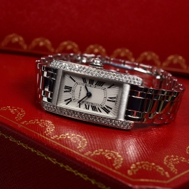 CA20269S Cartier Ladies Tank Americaine 18ct Close10