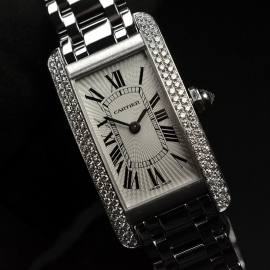 CA20269S Cartier Ladies Tank Americaine 18ct Close1 1