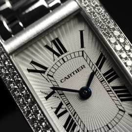 CA20269S Cartier Ladies Tank Americaine 18ct Close5 1