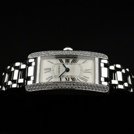 CA20269S Cartier Ladies Tank Americaine 18ct Close9