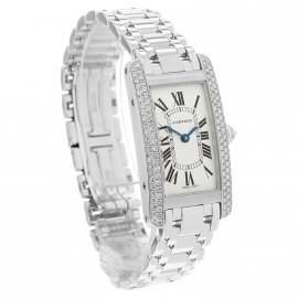 CA20269S Cartier Ladies Tank Americaine 18ct Dial 1