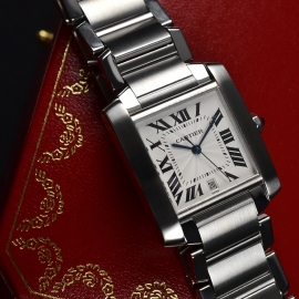 CA20453S Cartier Tank Francaise Large Size Close2 2