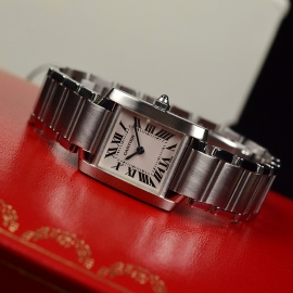 CA20834S Cartier Ladies Tank Francaise Small Model Close9 1