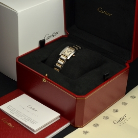 CA21161S Cartier Ladies Tank Francaise Small Model Box 1