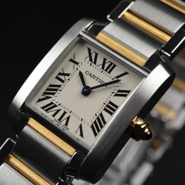 CA21161S Cartier Ladies Tank Francaise Small Model Close2