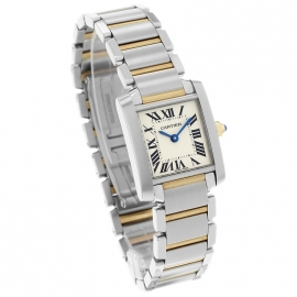 CA21161S Cartier Ladies Tank Francaise Small Model Dial 1