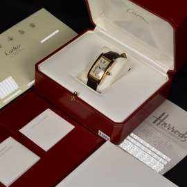Cartier Tank Americaine 18ct Box