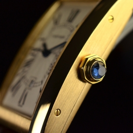 Cartier Tank Americaine 18ct Close1