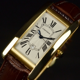 Cartier Tank Americaine 18ct Close2