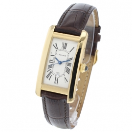 Cartier Tank Americaine 18ct Back