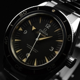 OM20743S Omega Seamaster 300 Master Co Axial Close2 2