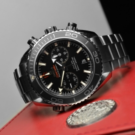 OM21024S Omega Seamaster Planet Ocean 600m Co Axial Chrono Close10