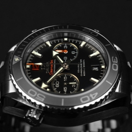 OM21024S Omega Seamaster Planet Ocean 600m Co Axial Chrono Close8
