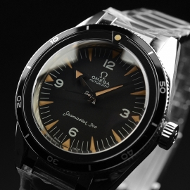OM21091S Omega Seamaster 60th Anniversary 300 Co-Axial Master Close2