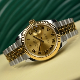 RO20074S Rolex Ladies Datejust Midsize Close11