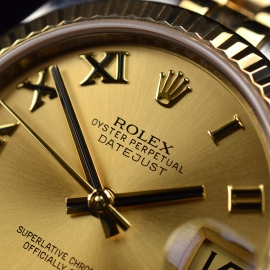 RO20074S Rolex Ladies Datejust Midsize Close5