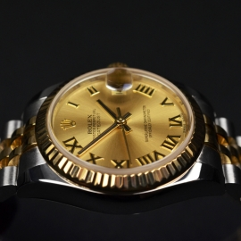 RO20074S Rolex Ladies Datejust Midsize Close9