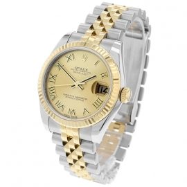 RO20074S Rolex Ladies Datejust Midsize Back