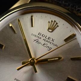 RO20866S Rolex Vintage Air King Close4 1
