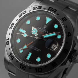 RO20976S Rolex Explorer II Orange Hand Close1