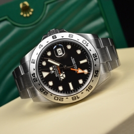 RO20976S Rolex Explorer II Orange Hand Close10