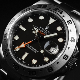 RO20976S Rolex Explorer II Orange Hand Close2