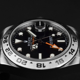 RO20976S Rolex Explorer II Orange Hand Close8