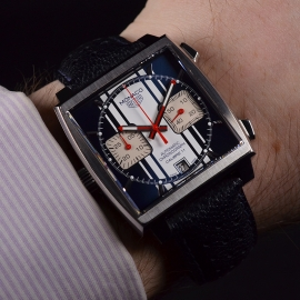 Tag Heuer Monaco Calibre 11 Steve McQueen Limited Production Wrist 1
