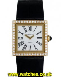 Chanel Ladies 18k Dress Watch Diamond Bezel