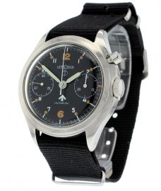 Lemania Vintage British Military Chronograph