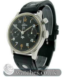 Lemania Vintage Military Chronograph